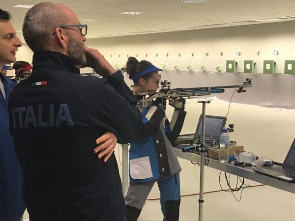 Raduno squadra juniores poligono TSN di Bologna